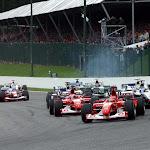 Start of 2002 Belgian F1 GP
