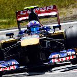 Daniel Ricciardo on 2 wheels with his Toro Rosso STR8