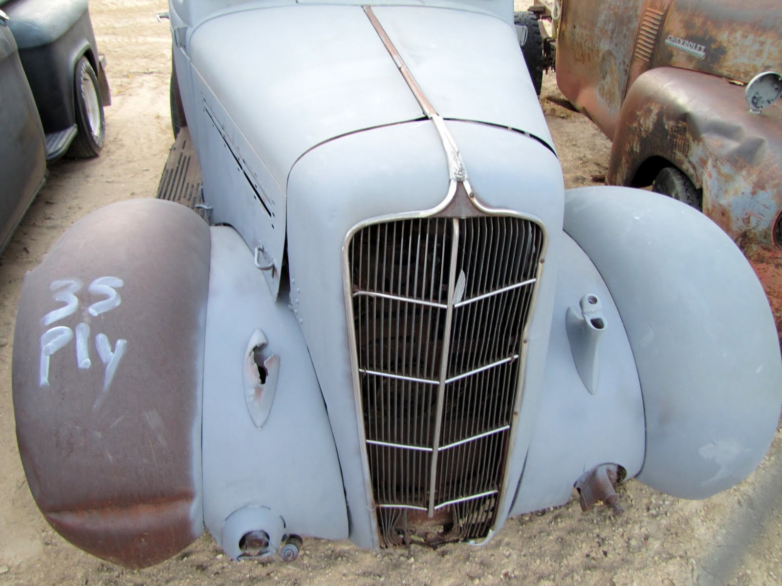 Without eyes, 1935 Plymouth Model PJ