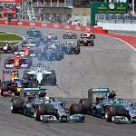 GP starts into 1st corner
