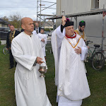 Mgr.Szalay Gyula esperes megszenteli a templomot
