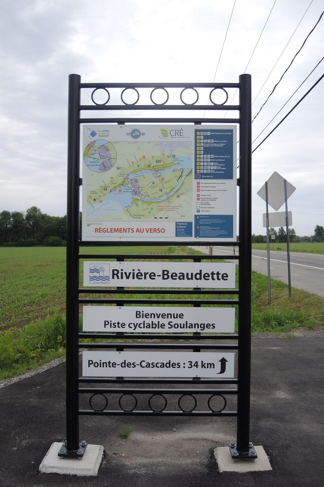 Arrivée au Québec, sur la route verte