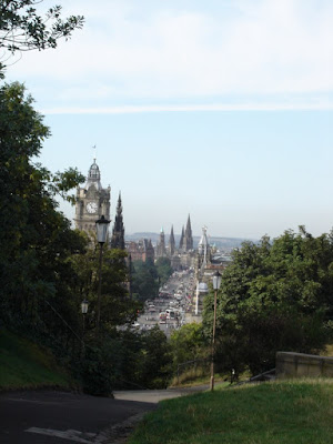 The view with Princes Street in the distance