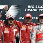 Podium 2007 Belgium F1 GP: 1. Raikkonen 2. Massa 3. Alonso