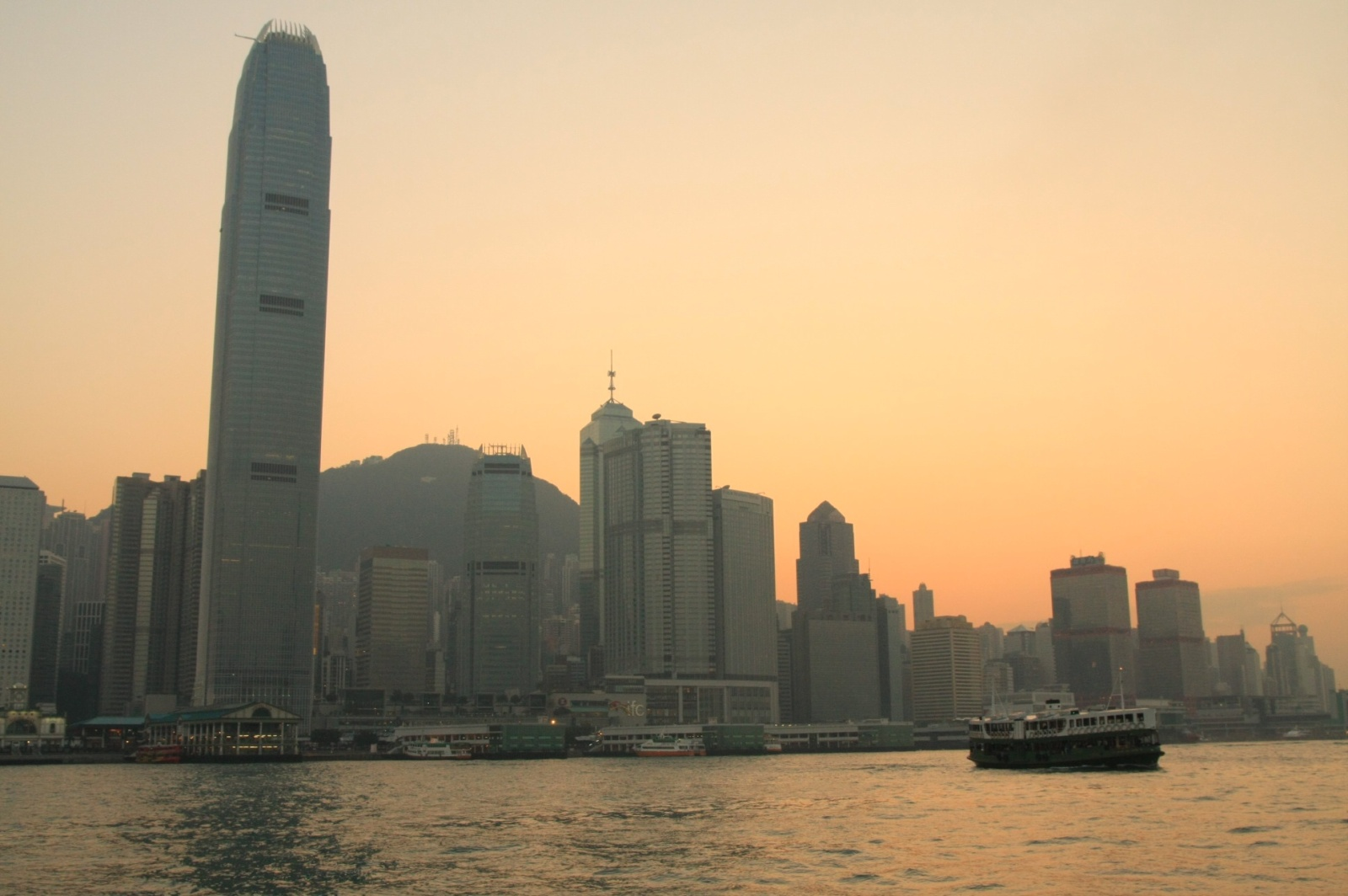 The infamous Star Ferry coming from Hong Kong Island