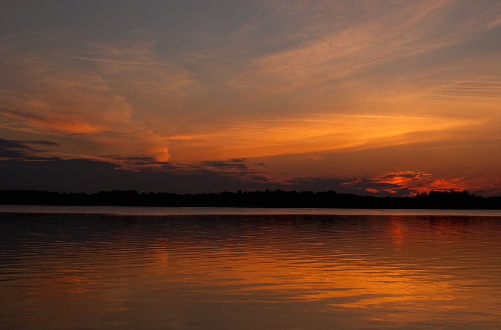 Photo by Bob Mosier. Sunset over the Wisconsin River along the Stagecoach Trail.