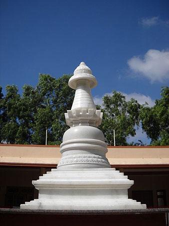 Marble stupa at IMI house in Sera Je Monastery