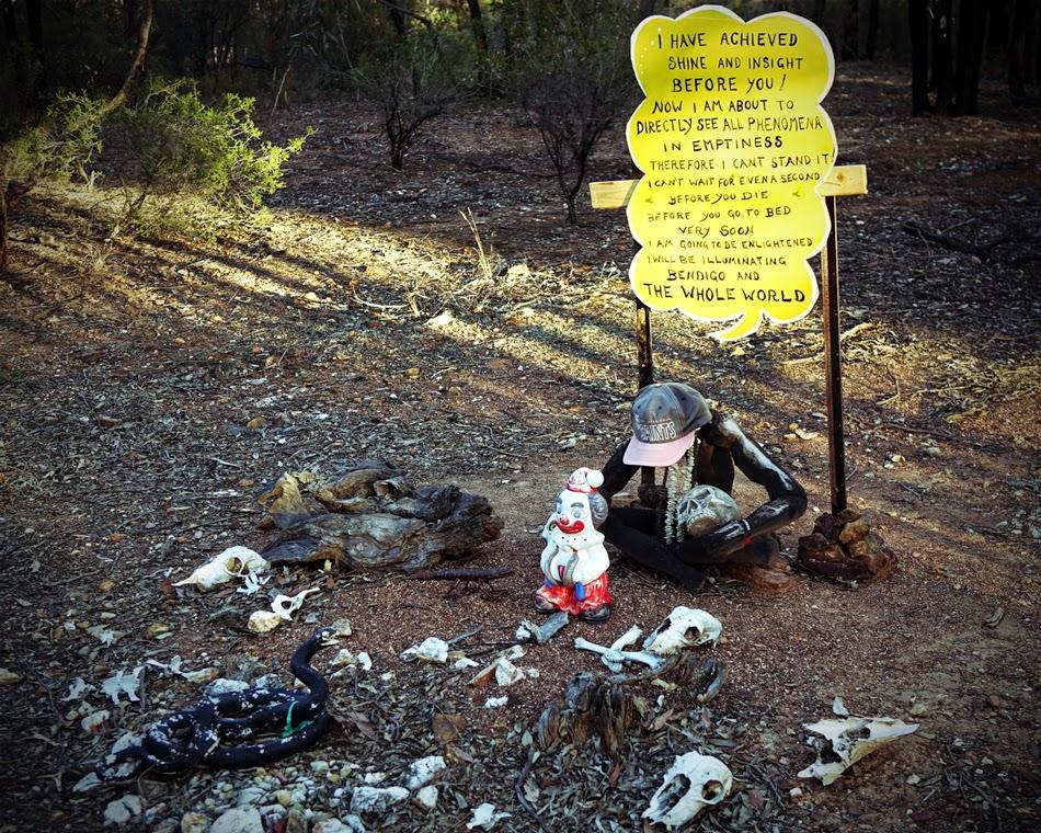 In the bush near Thubten Shedrup Ling Monastery, Bendigo, Australia, November 2014. Photo by Ven. Roger Kunsang.