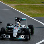 Lewis Hamilton after winning the 2015 British F1 GP