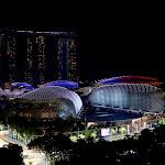 Singapore skyline with opera house