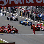 Start Felipe Massa (BRA), Scuderia Ferrari, Michael Schumacher (GER), Scuderia Ferrari and Fernando Alonso (ESP), Renault F1 Team