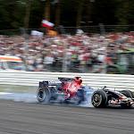 GEPA-1907086166 - HOCKENHEIM,GERMANY,19.JUL.08 - FORMULA 1, MOTORSPORT - Formula One Grand Prix of Germany, practice and qualifying, Saturday. Image shows Sebastien Bourdais (FRA/ Scuderia Toro Rosso). Keywords: action, smoke. Photo: GEPA pictures/ Bildagentur Kraelingଫ