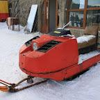 Retro snowmobile