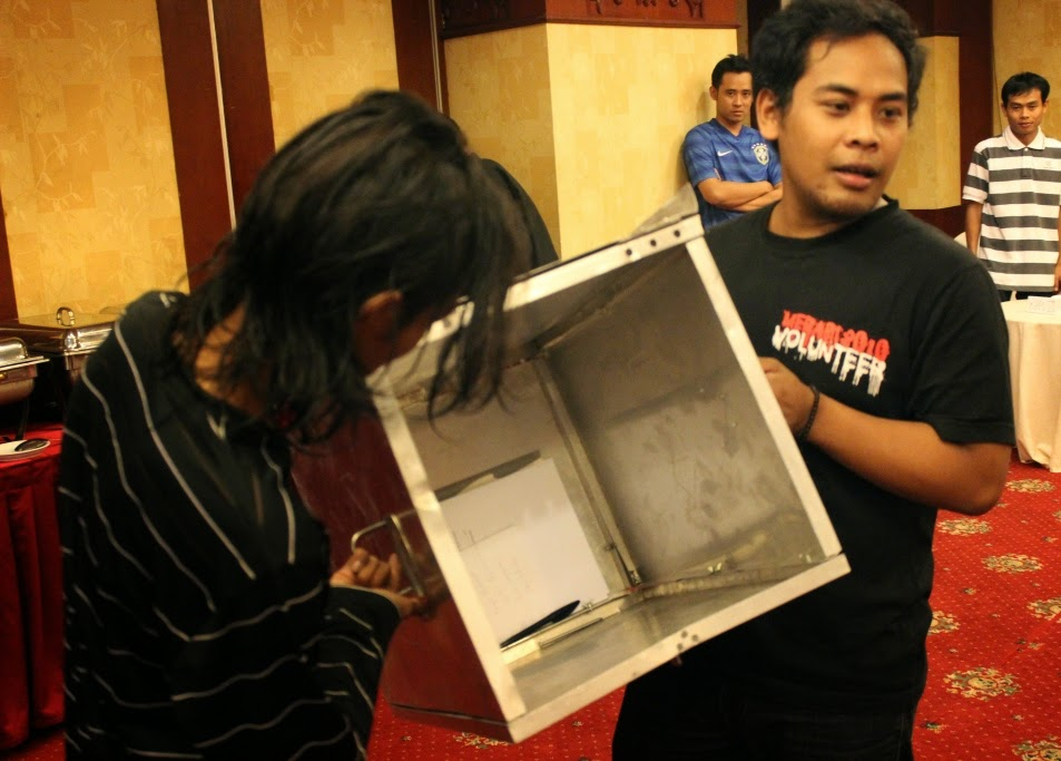 Simulation Election Voting at Observer Workshop Central Java 1-2 July 2014
