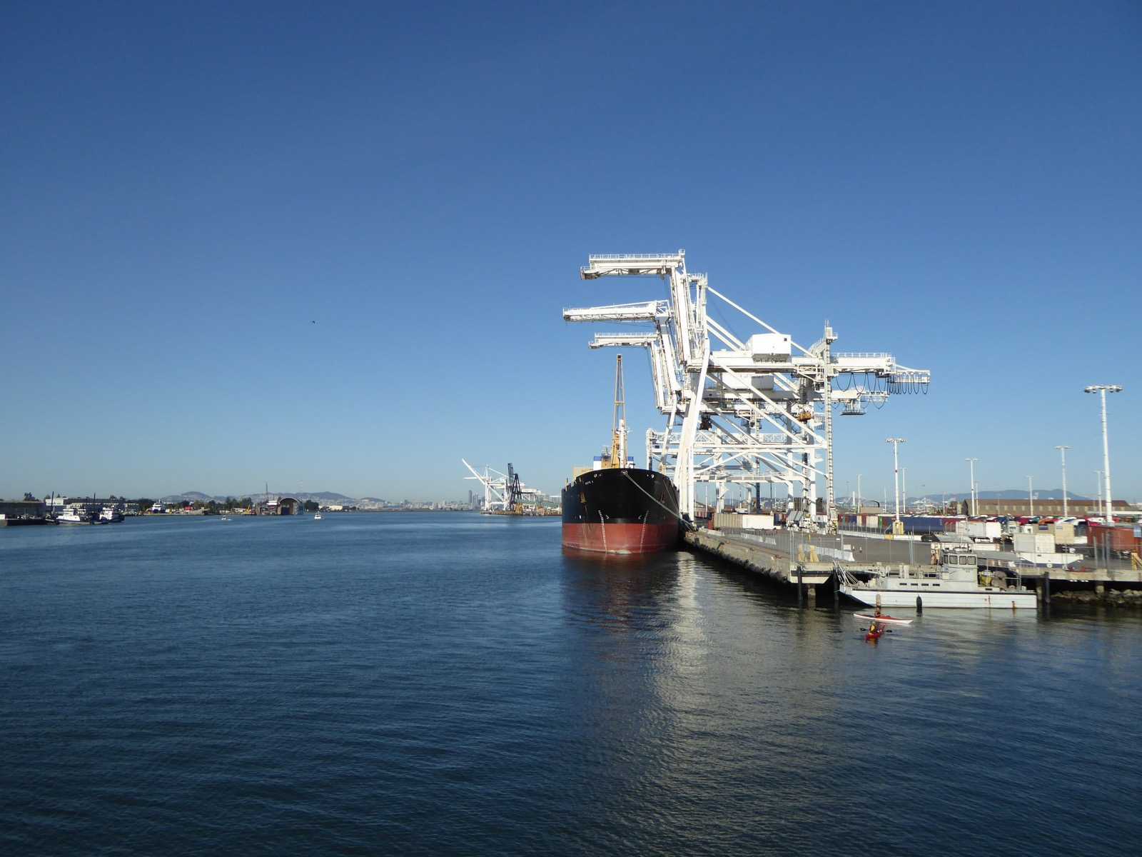 Port of Oakland from Oakland San Francisco ferry