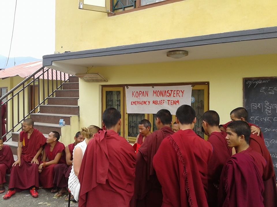 Emergency relief was set up at Kopan Monastery immediately following the first earthquake.