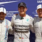 Top 3 qualifiers: 1. Rosberg 2. Massa 3. Bottas