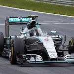 Nico Rosberg wins in his Mercedes W06