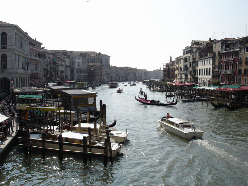 One of my favourite pics from my trip. Standing on Rialto Bridge