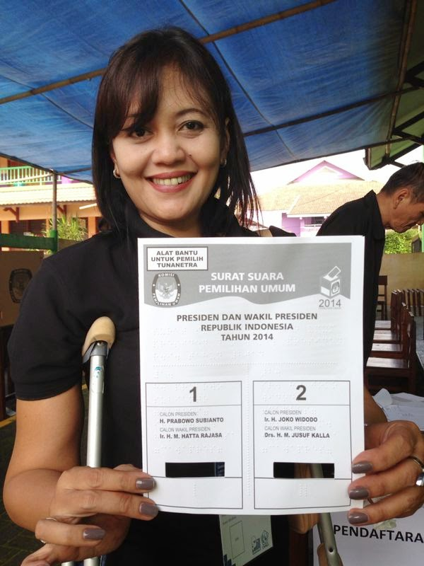 Braille template Presiential Election 9 July 2014