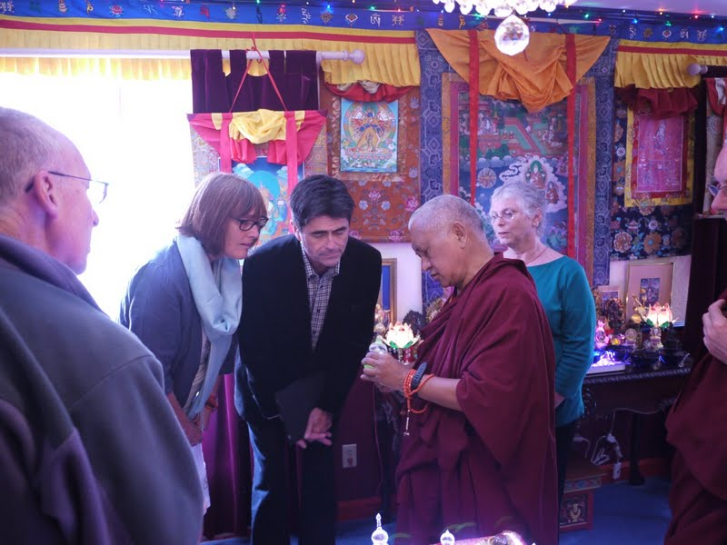 FPMT Board of Directors receiving blessing from relics