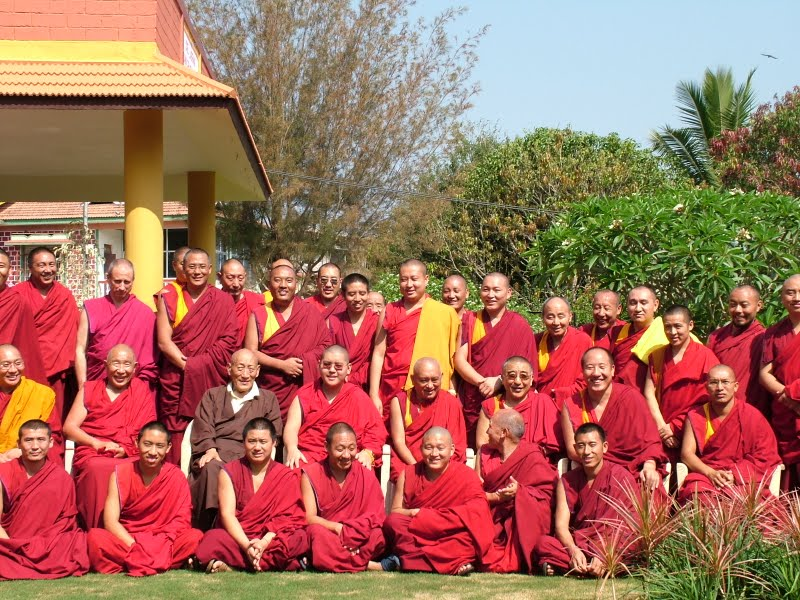 High Lamas reciving oral transmissions from Khongla Rato Rinpoche in South India 2008