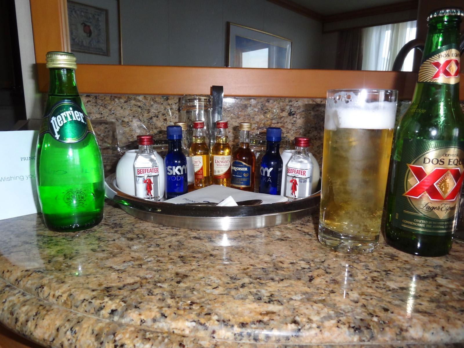 The free mini bar