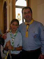 Chano e Hija. 75 aniversario patrulla del Kanguro Aynto.