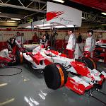 Kamui Kobayashi (JPN) has his first test for Toyota TF107