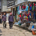 Shopping street in Lukla