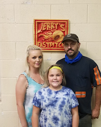Madison Toler with her parents Bub and Alicia from Glen Daniel, WV