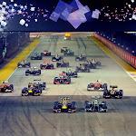 2013 F1 GP SINGAPORE start