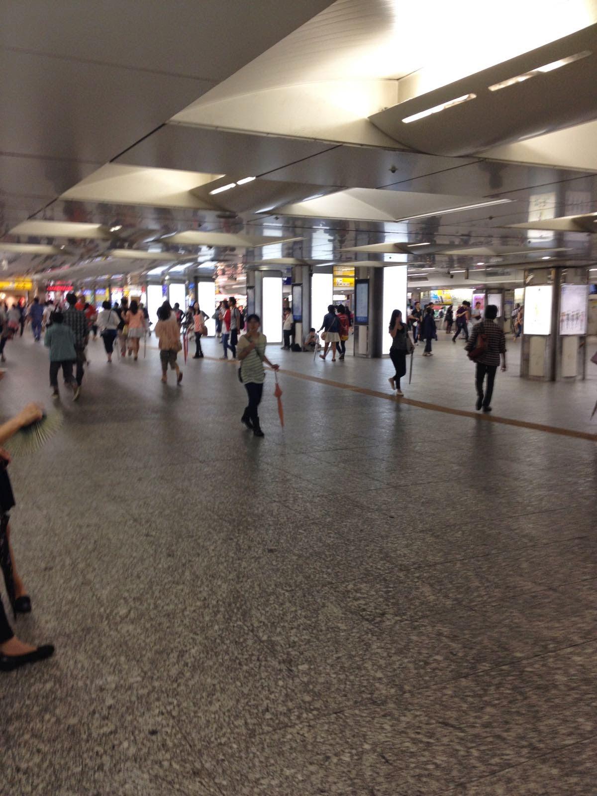The  centre of Yokohama Station