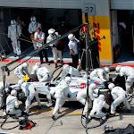 Felipe Massa, Williams FW36 Mercedes, makes a pit stop