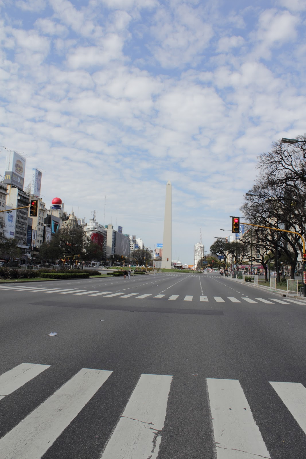 Obelisco - There was a marathon in Buenos Aires - so the streets were unusually empty!