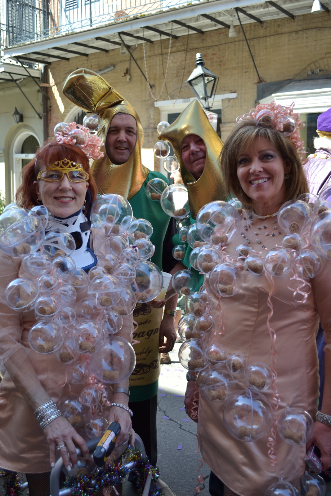 Krewes getting ready for parades in the days before Mardi Gras