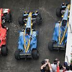 Podium with Renault and Ferrari