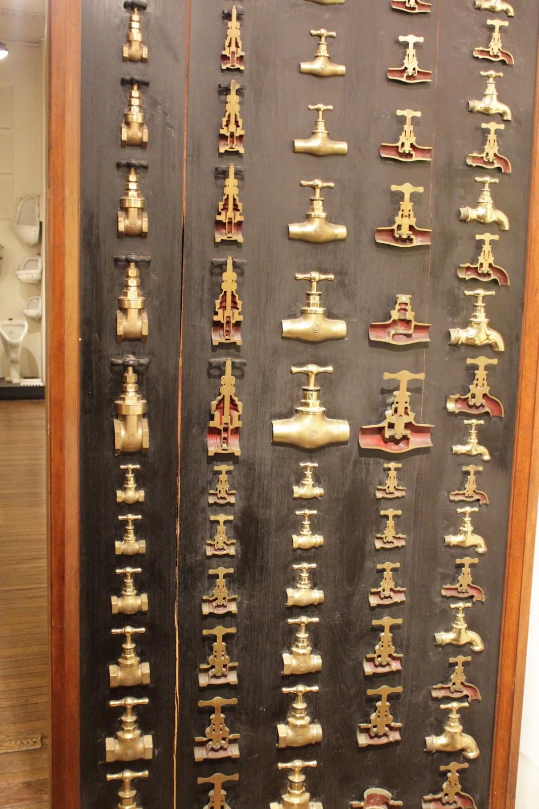Palacio de Aguas Corrientes - lots of different ... faucets
