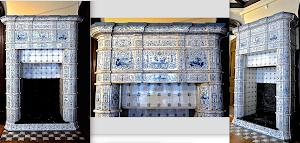 Изумительная изразцовая печь. ок.1850 г. 189/60/256 см. 45000 евро.