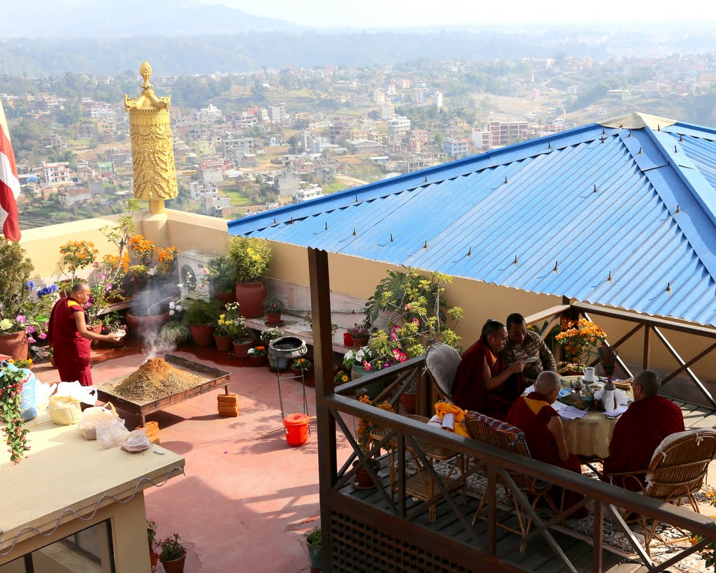 From the top of the gompa at Kopan Monastery, Nepal, December 2014. Photo by Ven. Thubten Kunsang.