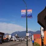 Pole banners, Clark Drive