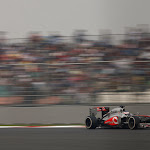 Jenson Button, McLaren MP4-28 going fast