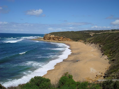 The infamous surfing beach - Bells Beach