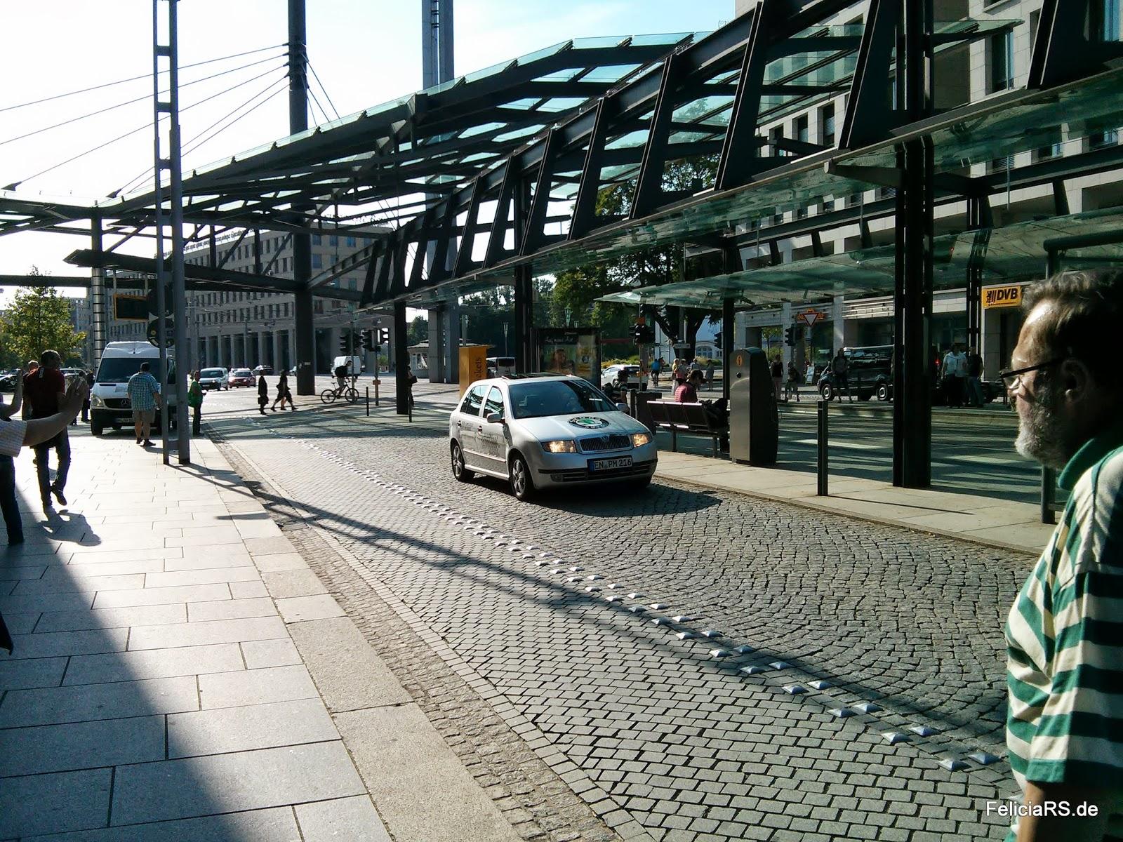 Peter musste zum Videodreh nochmal in Dresden rumfahren...