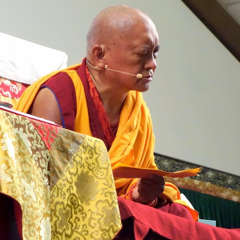 Lama Zopa Rinpoche, Light of the Path, North Carolina, May 2014. Photo by Ven. Roger Kunsang.