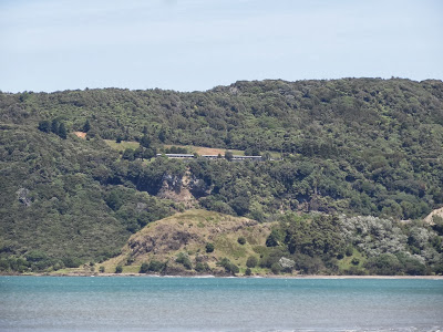 My motel, high above Hicks Bay