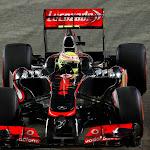 Sergio Perez on track.