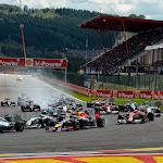 Start of the 2014 Belgian F1 GP
