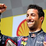 Rejoicing of Daniel Ricciardo