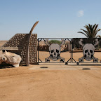 Skeleton Coast National Park gate (this is where you must pay)